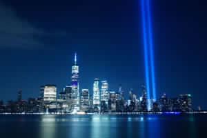 9/11 tribute in NYC with headlights moved by Automec gearmotors
